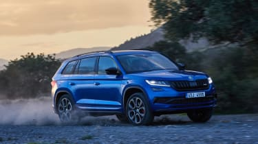Skoda Kodiaq vRS - front/side off-road
