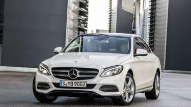 Mercedes C-Class 2014 white front