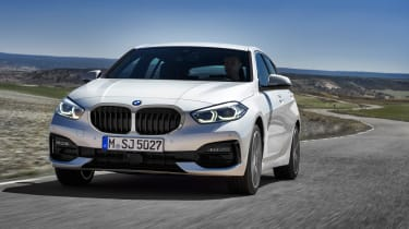 New BMW 1 Series 2019 front tracking