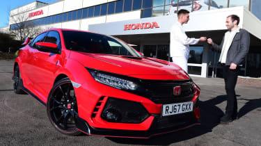 Honda Civic Type R long-term test review - key handover