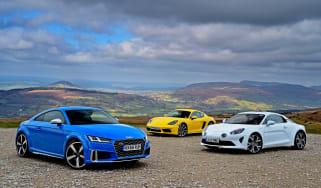 Audi TTS vs Alpine A110 vs Porsche 718 Cayman - header