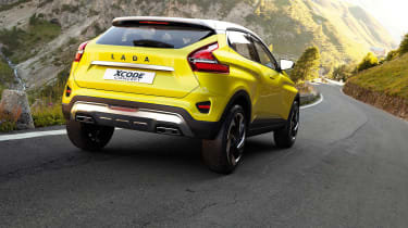 Lada XCode concept rear driving
