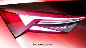 Skoda Kodiaq facelift - rear light teaser