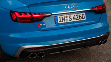 2019 Audi S4 saloon rear lights