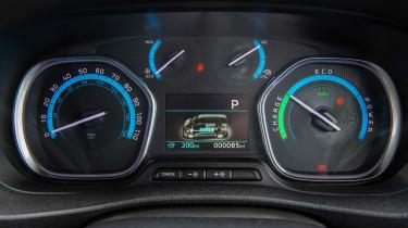 Toyota Proace Electric van - dials