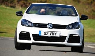 VW Golf R Cabriolet front cornering