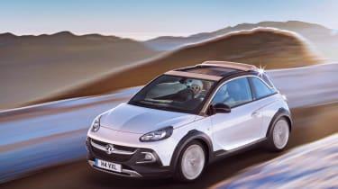 Vauxhall Adam Rocks driving white