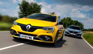 Renault Megane R.S. vs Honda Civic Type R - header