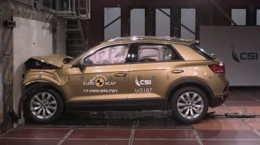 VW T Roc - Frontal Full Width test