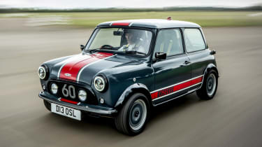 David Brown Automotive Mini Remastered Oselli Edition - front tracking