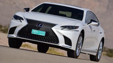 Lexus LS 500h 2018 review - front quarter