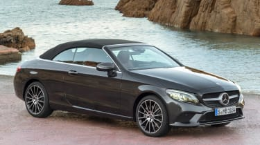 New Mercedes C-Class Cabrio - front roof up
