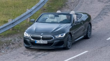 BMW 8 Series Convertible - spyshot front/side
