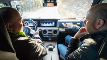 Mercedes G-Class prototype - interior