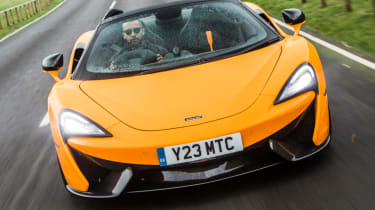 Mclaren 570s review - spider front