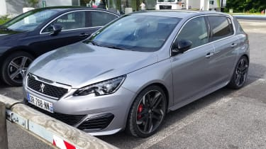 Peugeot 308 GTi spied - front
