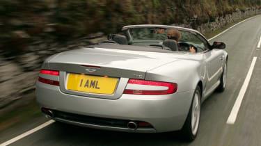 Aston Martin DB9 Volante convertible rear tracking