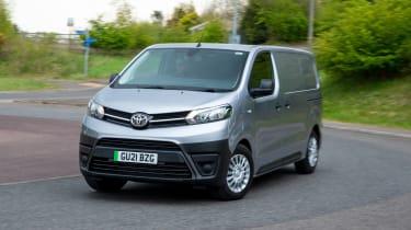 Toyota Proace Electric van - front cornering