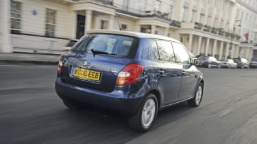 To tempt MINI buyers, the Fabia is offered with a choice of a body-coloured or white finish on the roof. The latter helps disguise the car's height.