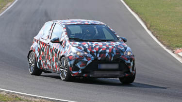 Toyota Yaris spies - front cornering