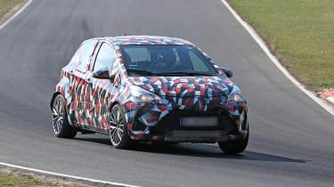 Toyota Yaris spies - front cornering