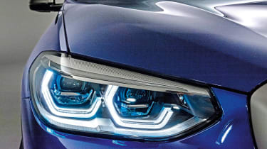 New BMW X3 - front lights
