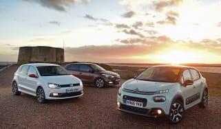 Citroen C3 vs Hyundai i20 vs Volkswagen Polo - header