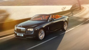 Rolls-Royce Dawn convertible driving