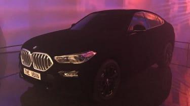 BMW X6 Vantablack - Frankfurt front