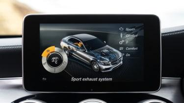 Mercedes C63 AMG saloon - infotainment