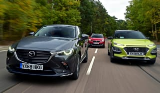 mazda cx-3 vs hyundai kona vs peugeot 2008 header
