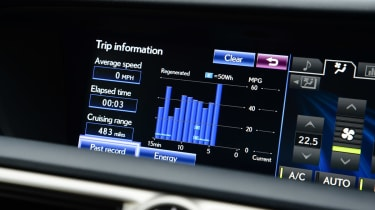Lexus GS 300h Luxury display