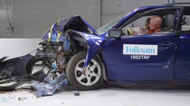 Rusty NCAP-style test front quarter