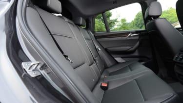 New BMW X4 2014 UK back seats