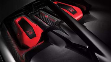 Bugatti Chiron-Sport engine red