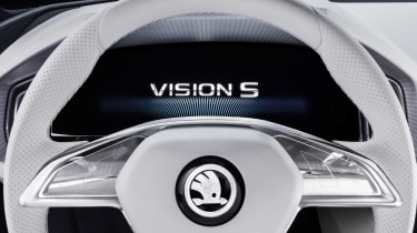Skoda VisionS concept studio - steering wheel