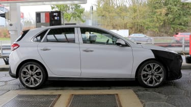 Hyundai i30 N Sport spy shots side