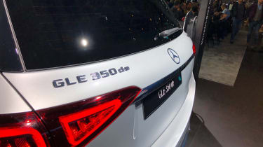 Mercedes GLE 350 de - Frankfurt rear badge