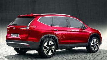 New Honda CR-V - exclusive image - rear