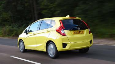 Honda Jazz yellow rear tracking