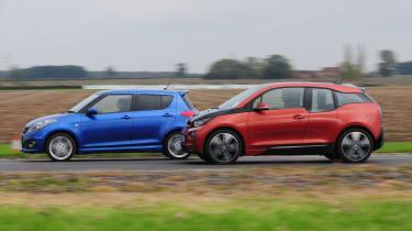 BMW i3 vs Suzuki Swift Sport