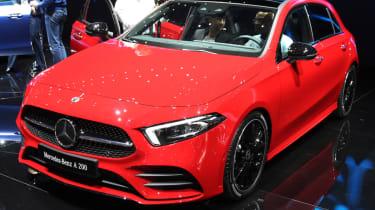 Mercedes A-Class red front quarter