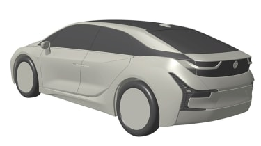 BMW i car patent images - rear quarter