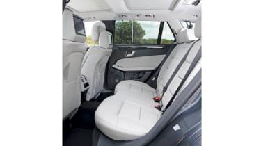 Mercedes E350 rear seats