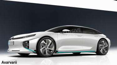 Citroen electric saloon exclusive images