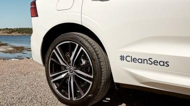 Volvo XC60 recycled plastic rear wheels