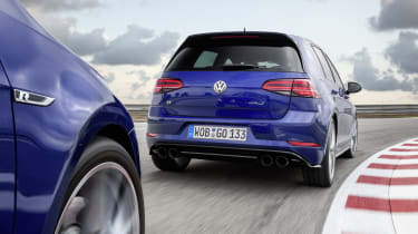 Volkswagen Golf R Performance Pack on track