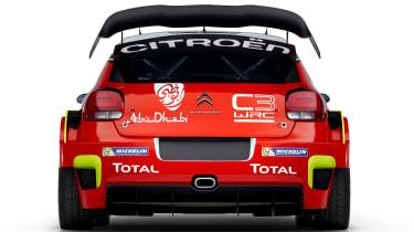 Citroen C3 WRC 2017 white background rear