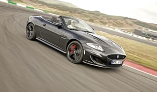 Jaguar XKR Convertible cornering