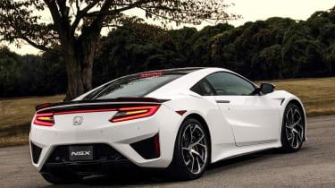 New Honda NSX 2015 white tail